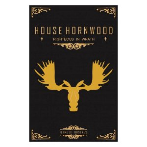 Quadro Decorativo MDF Alto Relevo Game of Thrones Hornwood
