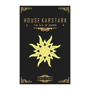 Quadro Decorativo MDF Alto Relevo Game of Thrones Karstark