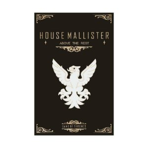 Quadro Decorativo MDF Alto Relevo Game of Thrones Mallister