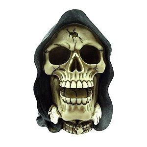 Caveira Decorativa de Resina Skeletor Cap