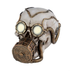 Caveira Decorativa de Resina Oxigen Mask