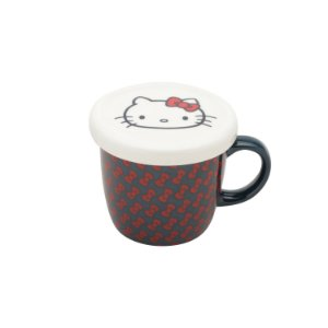 Caneca Criativa com Tampa Hello Kitty Laces 200ml