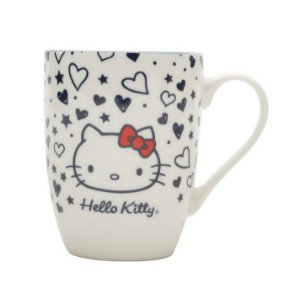 Caneca de Porcelana Hello Kitty Tattoo Old School 330ml