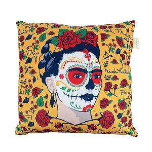 Capa de Almofada Frida Kahlo Face 45x45cm