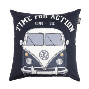 Capa Aveludada para Almofada Mini Kombi Time For Action 45x45cm