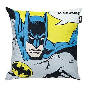 Capa de Almofada DC Comics I Am Batman 45x45cm
