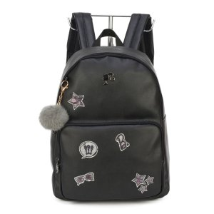 Mochila Feminina Escolar Barbie Patches Pompom