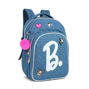 Mochila Feminina Notebook Barbie Patches Pompom