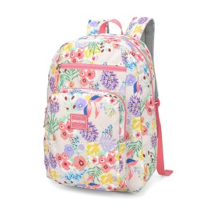 Mochila Feminina Escolar Notebook Floral Salmão Up4you