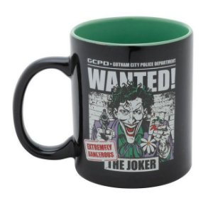 Caneca Geek Porcelana Dc Comics Joker Wanted 320ml