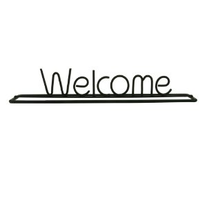 Letras Decorativas de Metal Welcome Preto