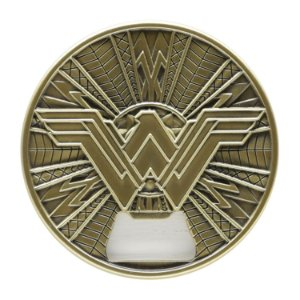 Abridor Garrafas Geek Metal com Imã Wonder Woman Fancy Dourado