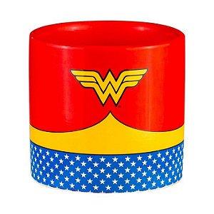Vaso Cachepot Cerâmica DC Wonder Woman Body Vermelho