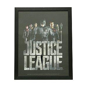 Quadro de Vidro DC Comics Liga da Justiça Movie Preto 31x39cm
