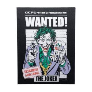 Quadro Tela Canvas DC Comics Joker Wanted Preto 30x40cm