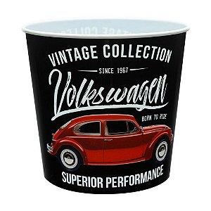 Balde Pipoca Volkswagen Fusca Vintage Collection Preto 5 Litros