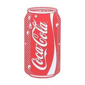 Placa Alumínio Alto Relevo Latinha Coca-Cola Vermelha 13x25cm
