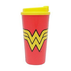 Copo Plástico DC Comics Wonder Woman Vermelho 500ml