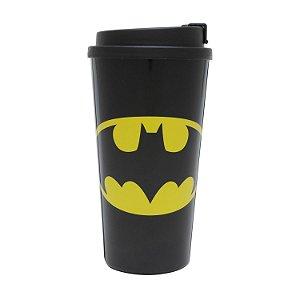 Copo Plástico DC Comics Logo Batman Preto 500ml