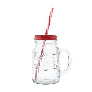 Caneconserva Vidro com Canudo Coca-Cola Country Classic 450ml