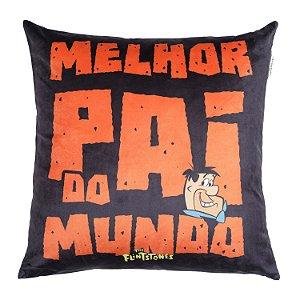 Capa Aveludada Almofada Fred Flintstones Pai 45x45cm