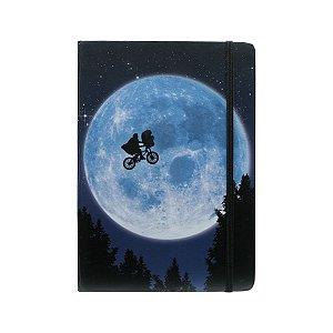 Caderneta Anotação Capa Dura ET Bike In The Moon Azul A5