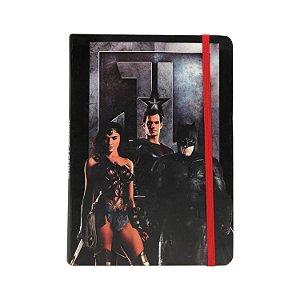 Caderneta Anotação Capa Dura Liga da Justiça Movie Preto A5