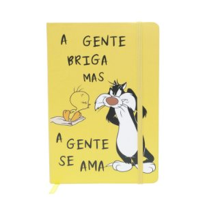 Caderneta Anotação Capa Dura Looney Tunes Vermelha A5