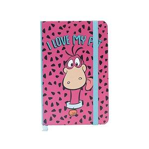 Caderneta Anotação Capa Dura Flintstones Love My Pet Colorido A6