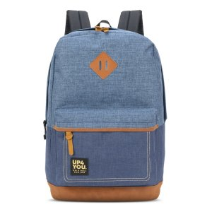 Mochila Masculina Adulto Juvenil Universitária Up4you Blue Jeans Azul