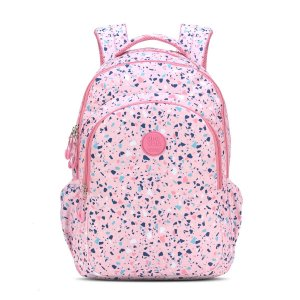 Mochila Feminina Notebook Up4you Elementos Abstratos Rosa