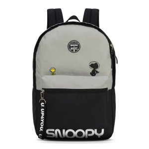 Mochila Feminina Escolar Up4you Snoopy Cinza