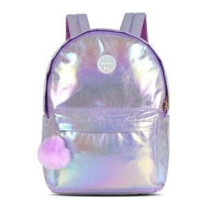 Mochila Feminina Up4you Barbie Pompom Roxa