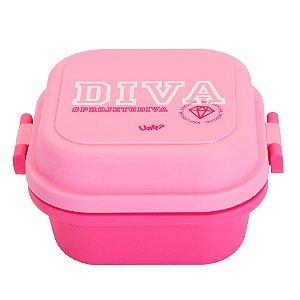 Mini Marmita Quadrada Diva Rosa 550ml