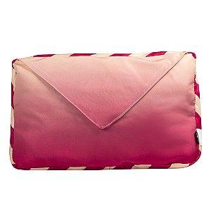 Almofada Decorativa Carta Te Amo Vermelha 40x25cm