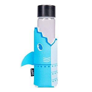 Garrafa de Vidro com Luva Tubarão Byte 400ml