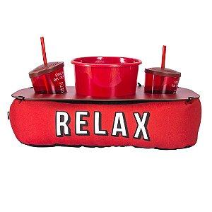 Almofada Pipoca Cinema com Roleta Relax Vermelha