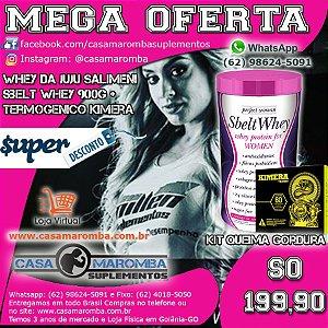 Sbelt Whey Feminino da Juju de 900g New Millen + Termogênico Kimera 60 Comprimidos