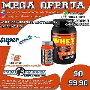 Kit Crescimento: Whey Premium 900g + Cre 150g
