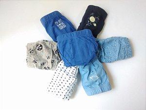 Kit Infantil 7 Cuecas Importadas 100% Algodão