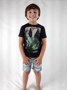 Camiseta Infantil Importada Zara Boys Street Skate Preta