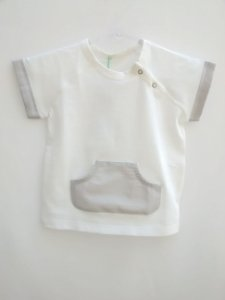 Camiseta Benetton Baby Bolso Frontal