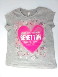 Blusa Feminina Infantil Importada Benetton Lovely 1965