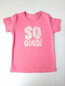 Blusa Bebê Infantil Baby Look Rosa Abacaxi Benetton