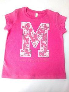 Blusa Bebê Menina Pink Rosas Benetton