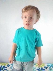 Camiseta Infantil Importada Zara Boys Turquesa Bolso
