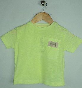 Camiseta Importada Zara Baby Boys Amarelo Limão