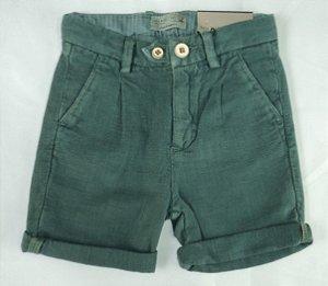 Bermuda Infantil Social Verde Escuro Zara