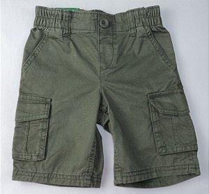 Bermuda Infantil Verde Militar Benetton