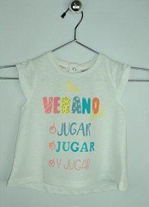 Blusa Infantil Bebê Branca Verão Zara
